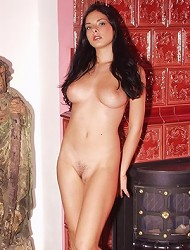 Gorgeous exotic beauty with senusal lips and...