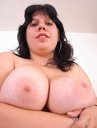 Plumper Ireen showing off her big juggs and...