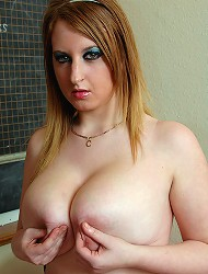 Teen Skarlett plays with her bazzookas and...